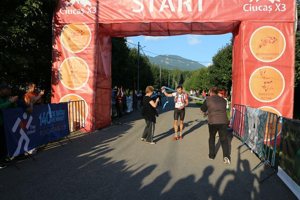 Finish ultramaraton ciucas x3