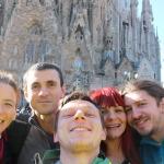 Selfie cu toții la Sagrada Familia
