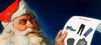 Santa Claus checking his list 3